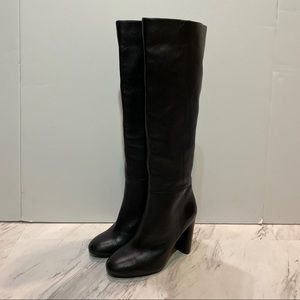 Vince Camuto Femmie Black Leather Heeled Boots
